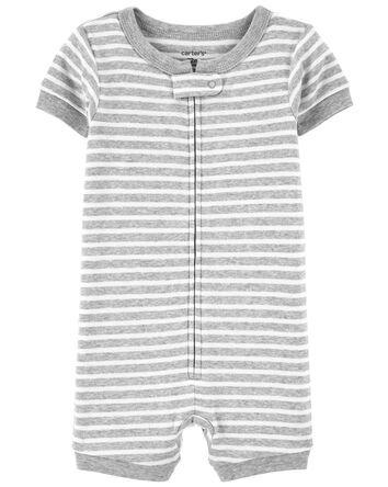 Pyjama barboteuse 1 pièce rayé en c...