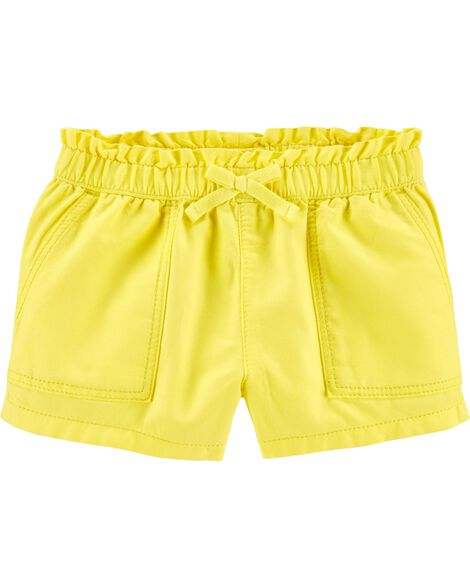 Ruffle Waist Pull-On Shorts