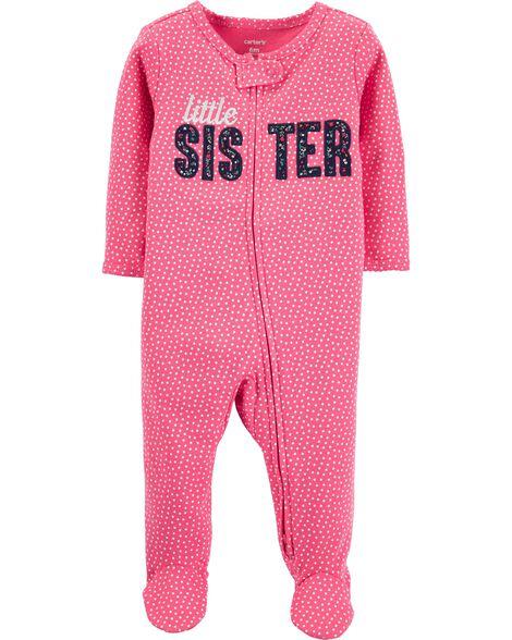 Little Sister 2-Way Zip Cotton Sleep & Play