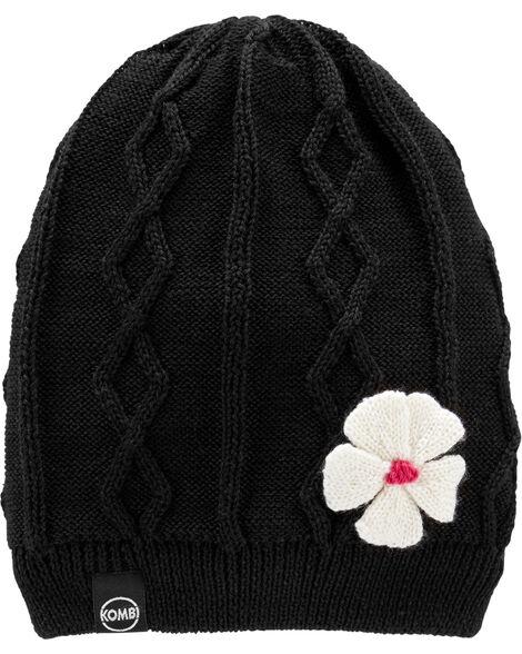 Tuque en tricot câblé avec doublure de molleton