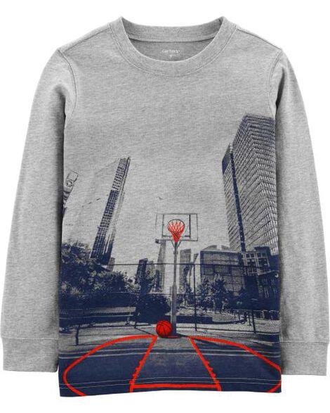 Photoreal Basketball Graphic Tee