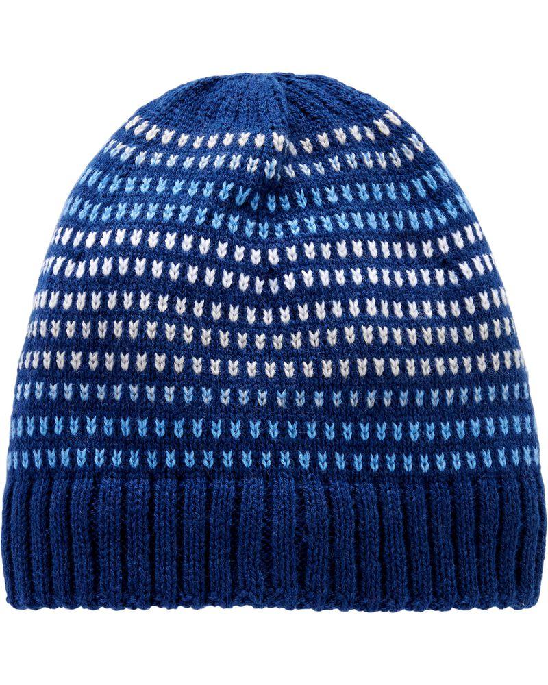 Tuque à rayures en tricot, , hi-res