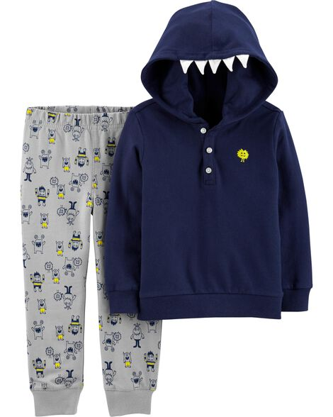 2-Piece Monster Hoodie & Jogger Set