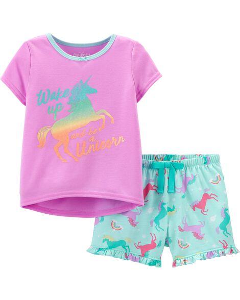 Pyjama 2 pièces à licorne