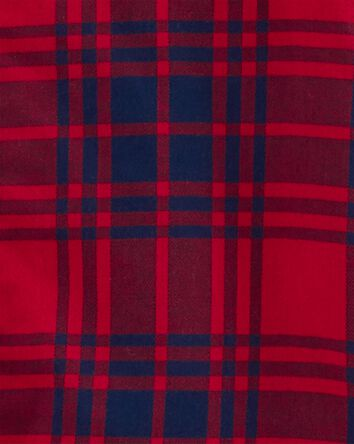 Hooded Button-Front Flannel Jumpsui...