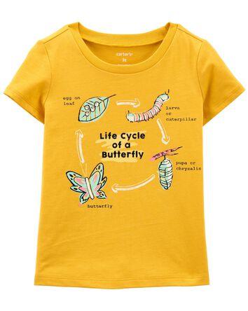 T-shirt en jersey à papillon en mét...