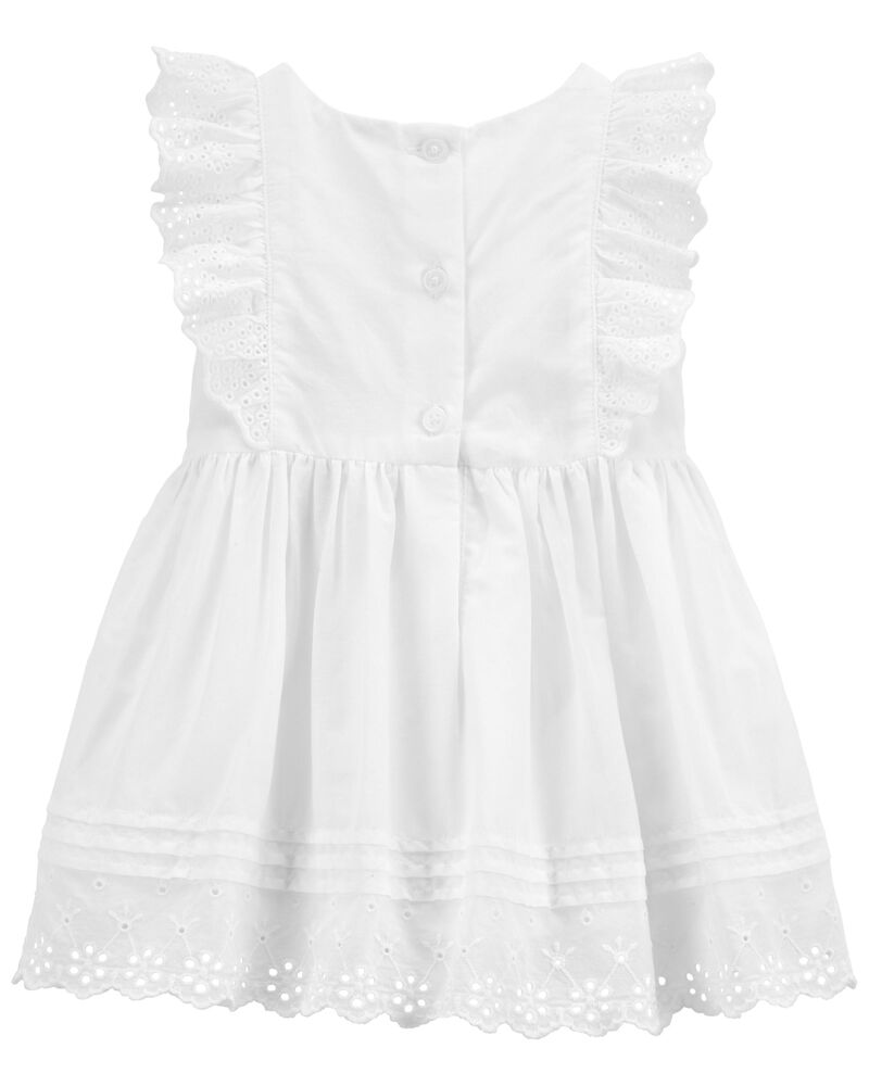 Eyelet Ruffle Dress, , hi-res