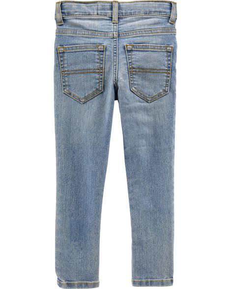 Regular Fit Skinny Jeans - Sun Faded Light Wash