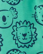 1-Piece Zoo Loose Fit Footie PJs, , hi-res
