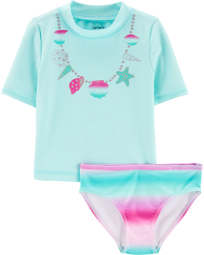 Shell Necklace 2-Piece Rashguard Set, , hi-res