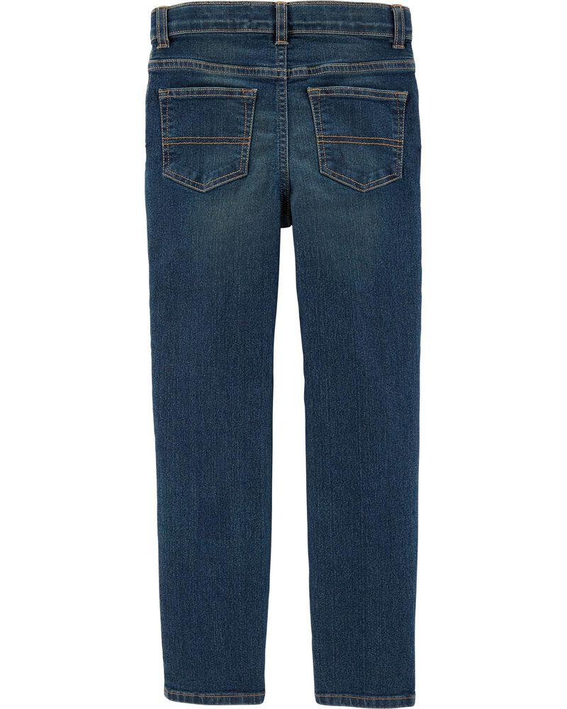 Jeans droit (coupe étroite) - délavage teinté authentique, , hi-res