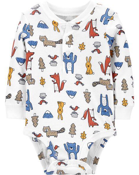 Animal Henley Bodysuit