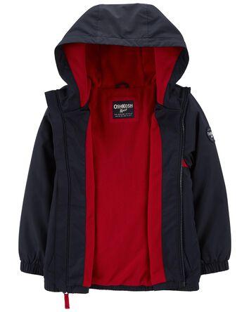 Fleece-Lined Striped Jacket