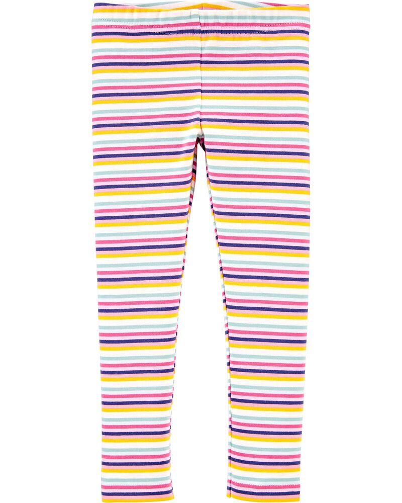Striped Jersey Leggings, , hi-res