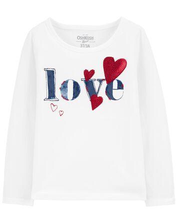 T-shirt à encolure arrondie LOVE