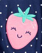 Barboteuse à boutons-pression motif fraise, , hi-res
