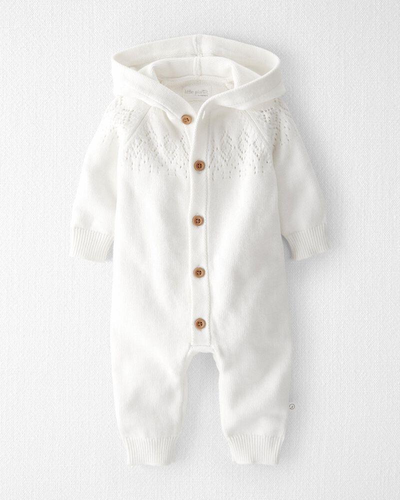Organic Cotton Hooded Jumpsuit, , hi-res