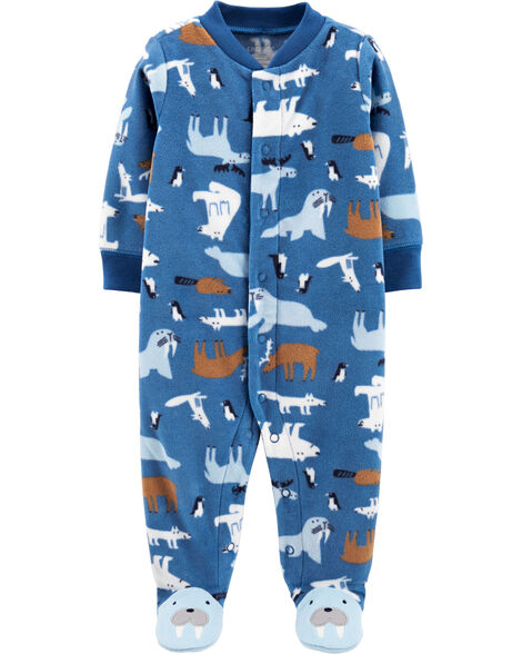 Walrus Snap-Up Fleece Sleep & Play