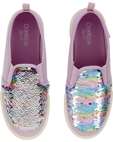 Chaussures à enfiler avec arc-en-ciel scintillant