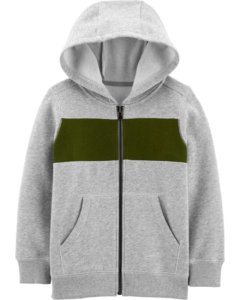 Zip-Up Fleece Jacket, , hi-res