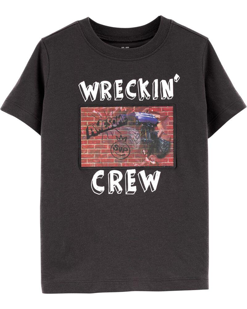 T-shirt à imprimé interactif, , hi-res