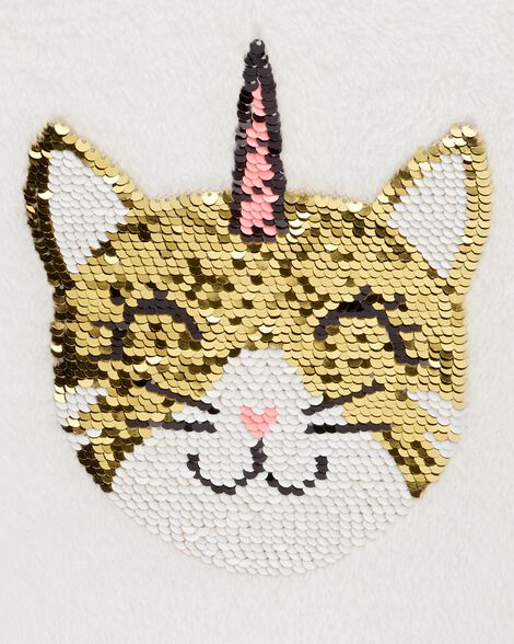 Flip Sequin Unicorn Cat Fuzzy Sweater