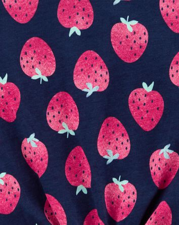 T-shirt en jersey à fraises