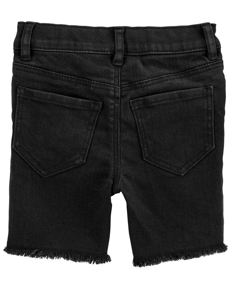 Stretch Skimmer Shorts in Black Enzyme Wash, , hi-res