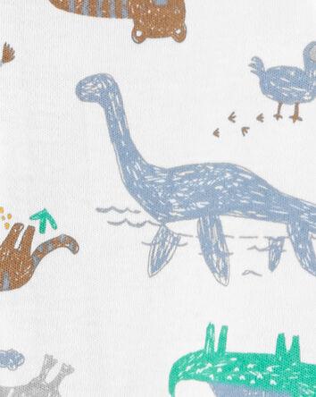 Dinosaurs 2-Way Zip Cotton Sleep &...