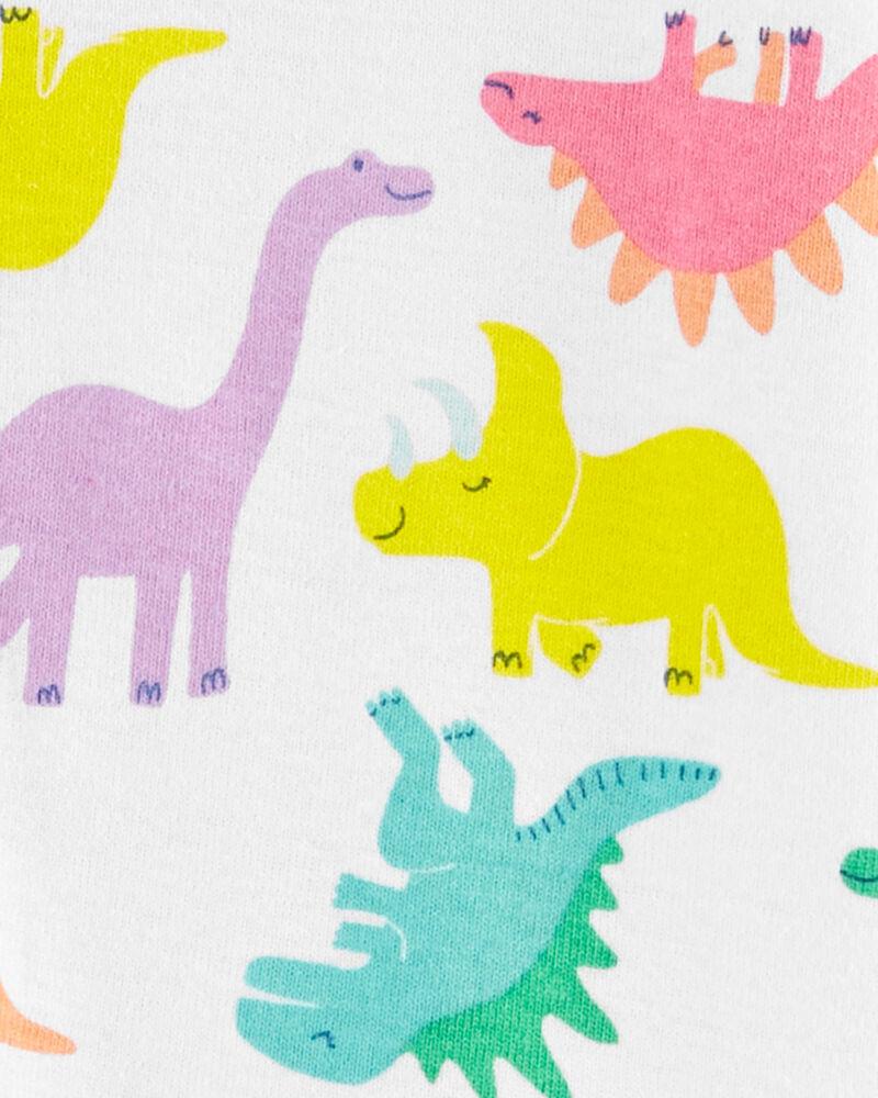 Pyjama 1 pièce sans pieds en coton ajusté à motif de dinosaure, , hi-res