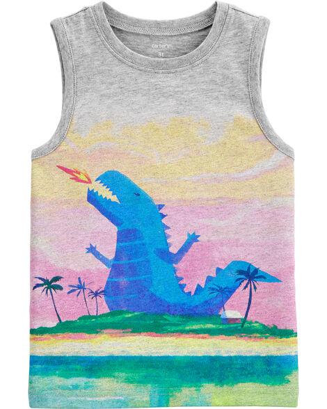Débardeur en jersey à dinosaure