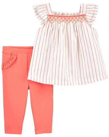 2-Piece Flutter Top & Pant Set