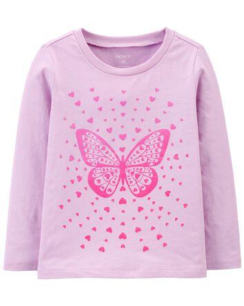 T-shirt en jersey Papillon