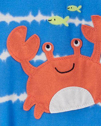1-Piece Crab Loose Fit Footie PJs