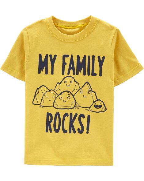 T-shirt en jersey My Family Rocks