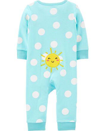 Sun 2-Way Zip Cotton Footless Sleep...