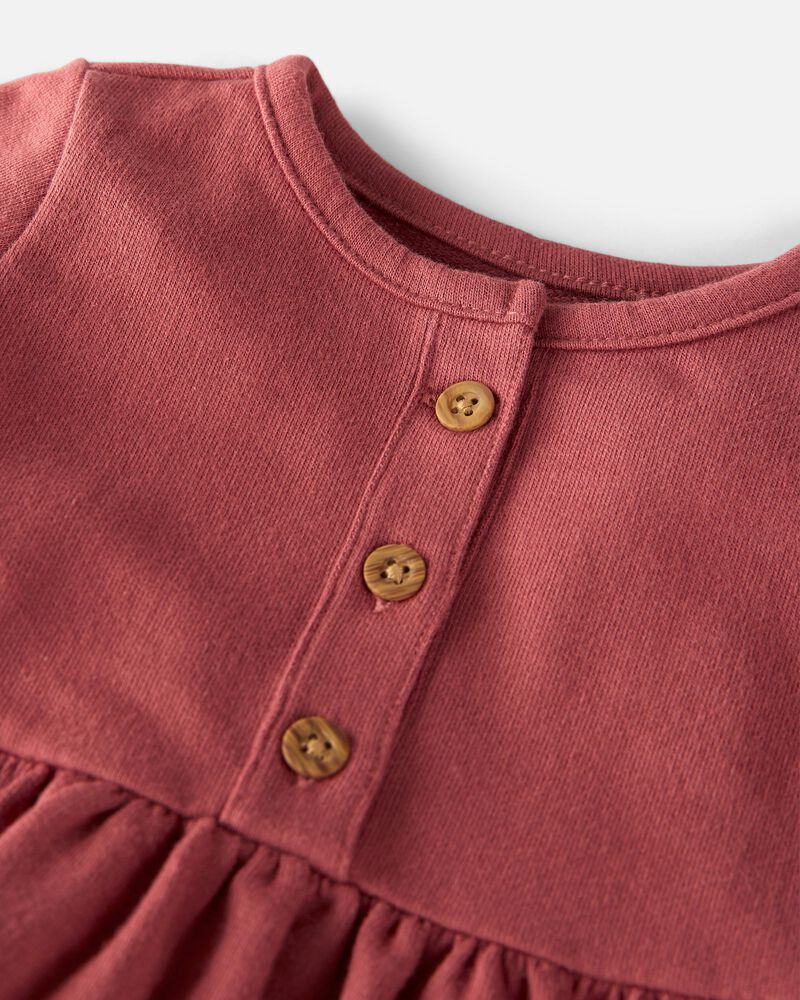 Organic French Terry Dress, , hi-res