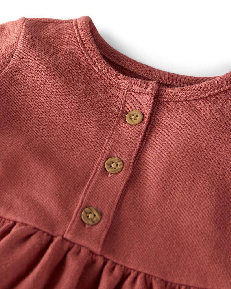 Robe en jersey bouclette biologique, , hi-res