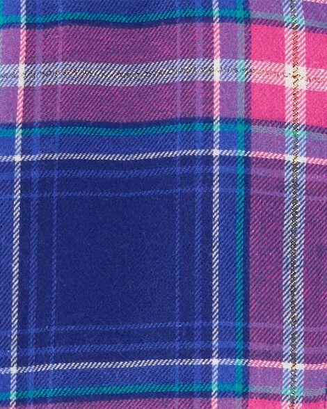 Metallic Plaid Flannel Top