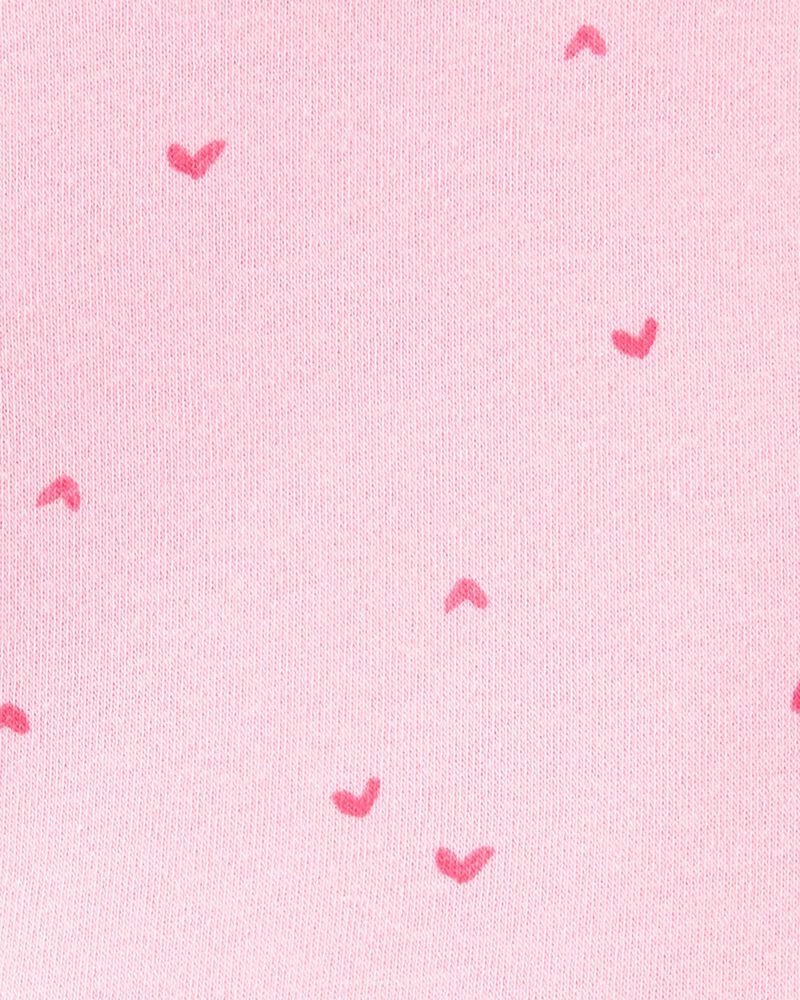 Chandail d'entraînement à bordure en dentelle et imprimé de cœurs, , hi-res