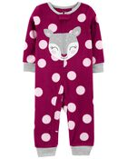 1-Piece Deer Fleece Footless PJs, , hi-res