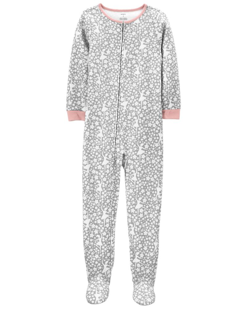 1-Piece Dancer Fleece Footie PJs, , hi-res
