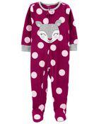 Pyjama 1 pièce en molleton à pieds à chevreuil, , hi-res