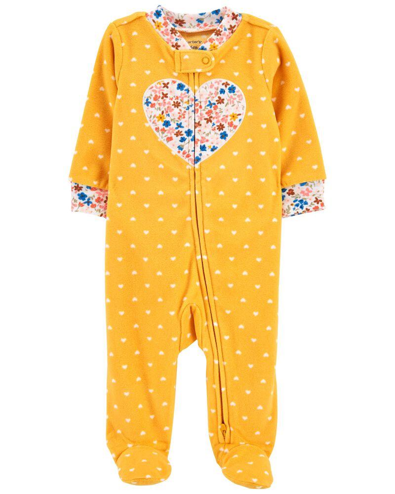 Heart Fleece Sleep & Play, , hi-res