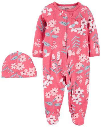 2-Pack Cap & Zip-Up Sleep & Play Se...