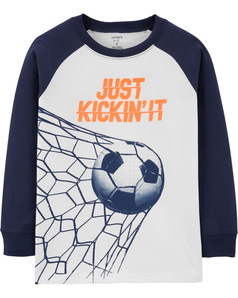 T-shirt raglan de soccer