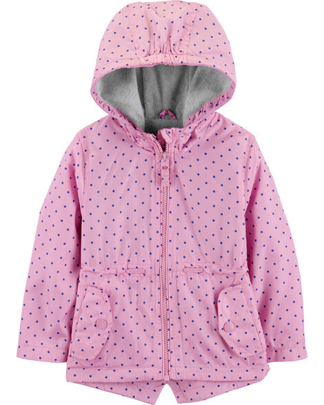Fleece-Lined Polka Dot Jacket