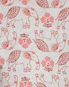 4-Piece Elephant 100% Snug Fit Cotton PJs, , hi-res