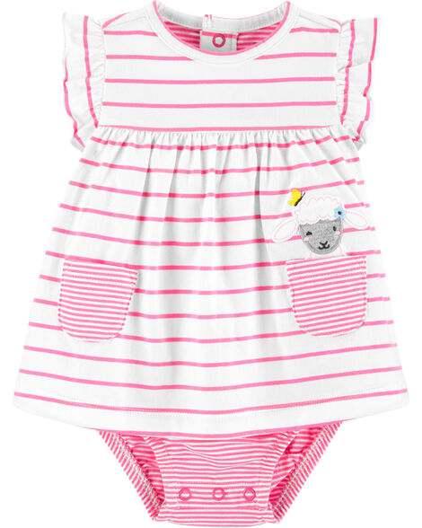 Striped Sheep Jersey Sunsuit