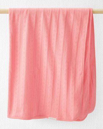 Organic Cotton Pointelle Blanket